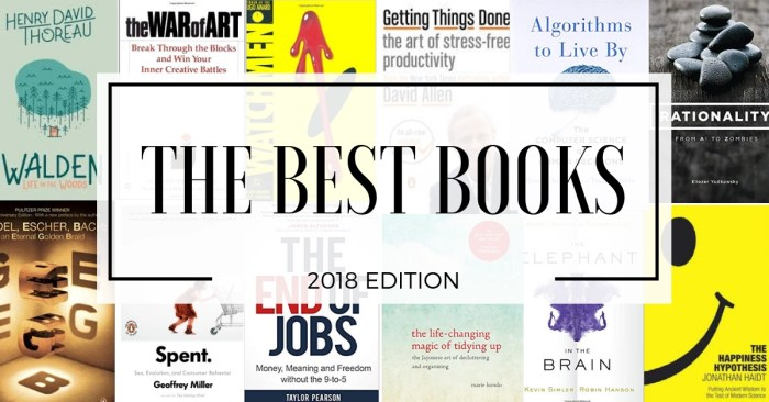 The best of the best books 2018