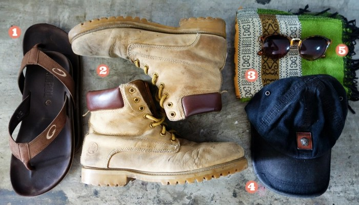 Minimalist travel packing list: Footwear and accessories