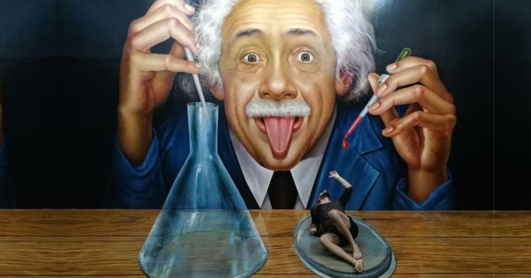 All life is an experiment cover: Einstein beakers illusio