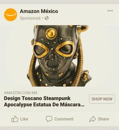 steampunk apocalypse mask amazon ad