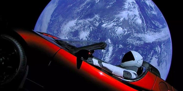 Specialisation is for insects - Elon Musk's Roadster cruises through space