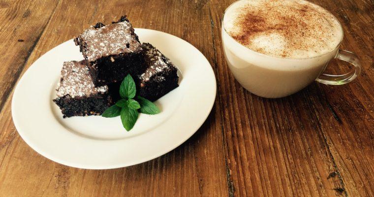 Chocolate Mint and Roast Hazelnut Brownie