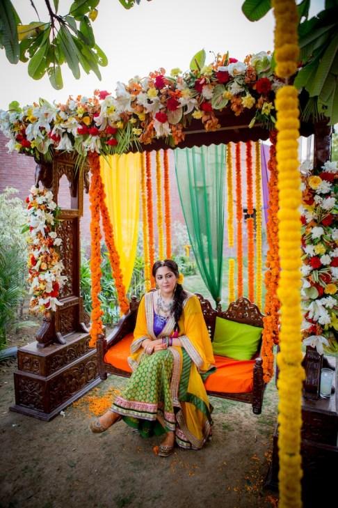 Elements mehendi decor swing 3 Sahiba wedding Photo Tantra