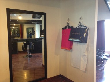 Draping & changing area
