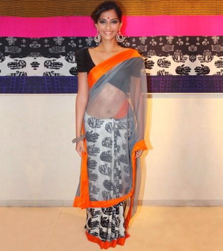 Masaba Gupta palm print sari Sonam Kapoor