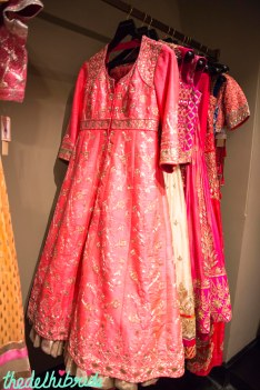 A pretty in pink jacket lehenga at DLF Emporio