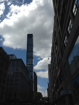 sights of new york cloudy blue skies