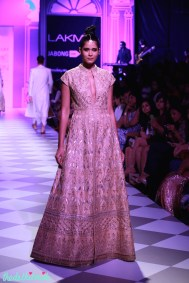 The Best of Anita Dongre Lakme Fashion Week 2014 ivory beige jacket floor length anarkali