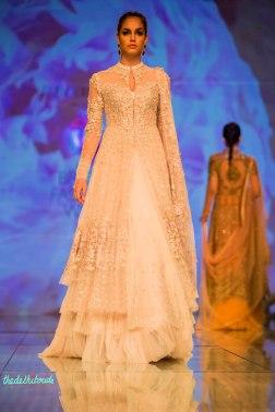 white jacket lehenga 1 Tarun Tahiliani India Bridal Fashion Week 2014