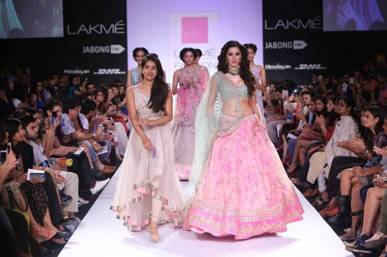 Anushree Reddy layered anarkali