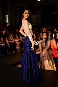 Ridhi Mehra ivory and blue gown Lisa Haydon back