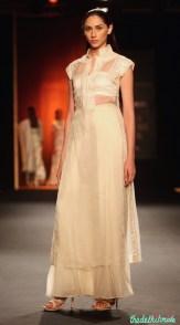 Hand Embroidered Sheer Long Kurta with Silk Shiffon Palazzos - Rahul Mishra - Amazon India Couture Week 2015