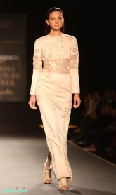 4. Hand Embroidered Peacock Bird Long Dress - Rahul Mishra - Amazon India Couture Week 2015