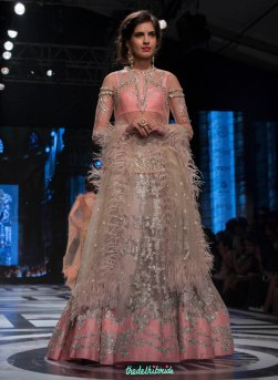 Falguni and Shane Peacock - Dull Lilac lehenga with light pink border and silver applique work - BMW India Bridal Fashion Week 2015