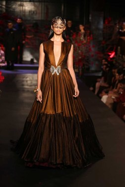 Metallic Copper & Coffee Brown Gown - Manish Malhotra - Amazon India Couture Week 2015