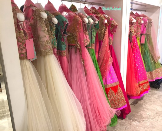 Row of Anushree Reddy outfits