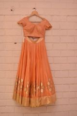 Peachy orange lehenga choli