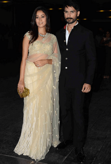 Wedding guest style - Reception - Mira Kapoor and Shahid Kapoor - Masaba Gupta and Madhu Mantena Wedding 2015