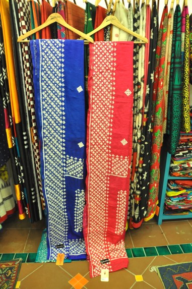 Anuradha Ramam - Blue and pink embroidered silk saris - Meherchand market wedding shopping guide