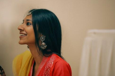Aashirwaad & Mehendi - silver jewellery on bride - Anasuya Wedding Wardrobe
