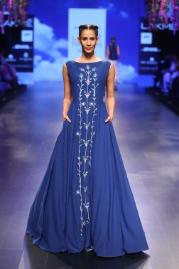 17 Bougainvillea embroidered blue gown | Anita Dongre Love Notes | Lakme Fashion Week 2016