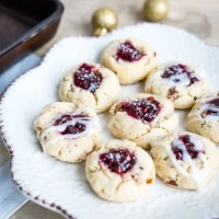Raspberry cheesecake  Thumbprint Cookies