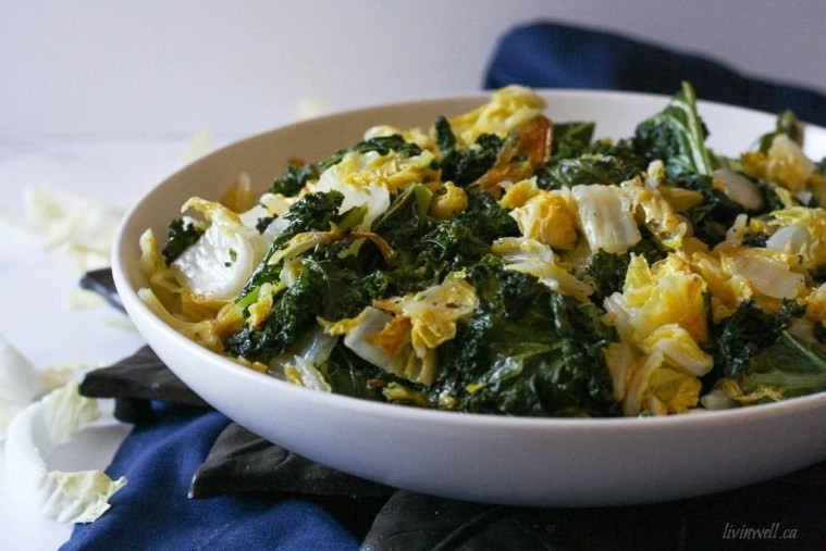 Roasted Kale & Napa Cabbage Picture