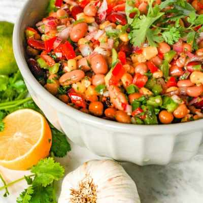 Mexican Bean Salad – A Perfect Side or Dish For Any Potluck