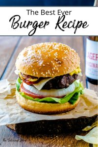 Pinterest Pin - picture of hamburger