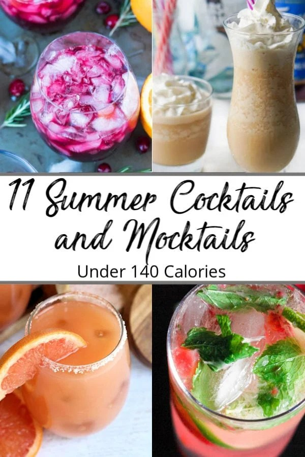 Pinterest pin of summer mocktail and cocktail recipes