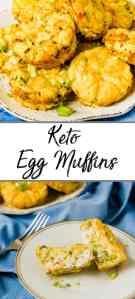 Pinterest pin of keto egg muffins