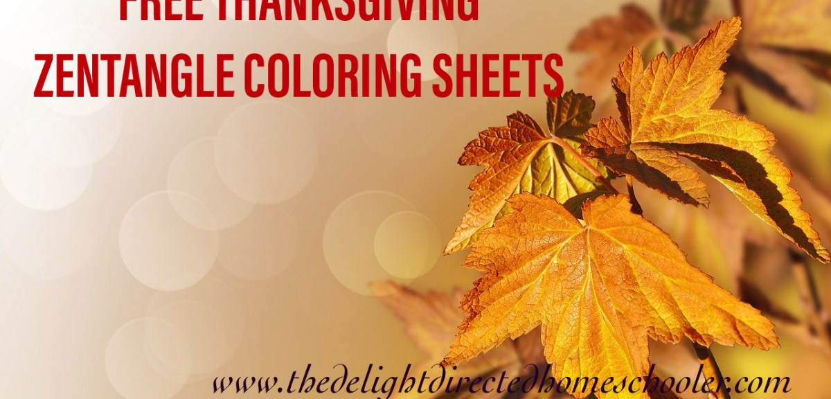 {FREE} Thanksgiving Zentangle Coloring Sheets