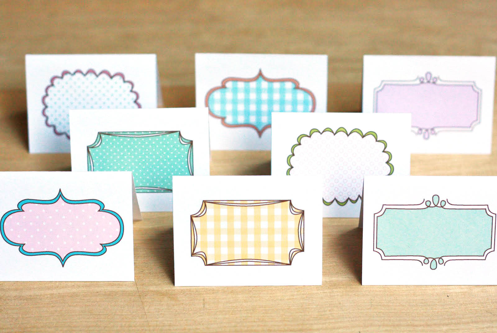 photograph regarding Free Printable Note Cards titled Absolutely free Printable Mini Playing cards The Delectable Tool