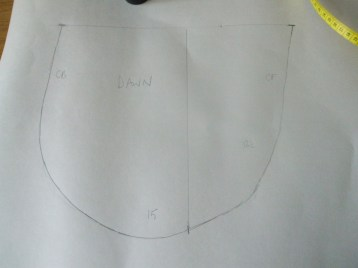 The fishbowl, split into front and back curves