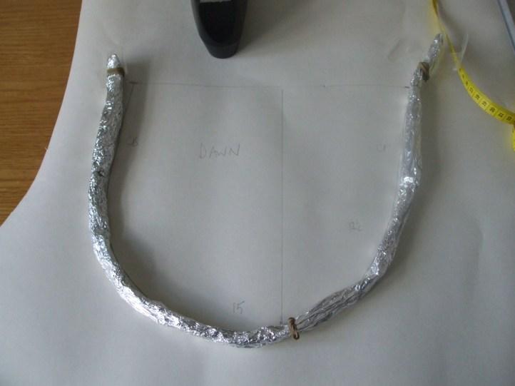 The foil 'mould'