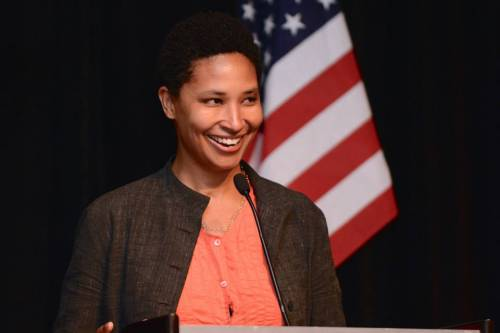 Political philosopher Danielle Allen gives closing keynote at #CLDE15 — in New Orleans, Louisiana. [Image by Zymage JZ]