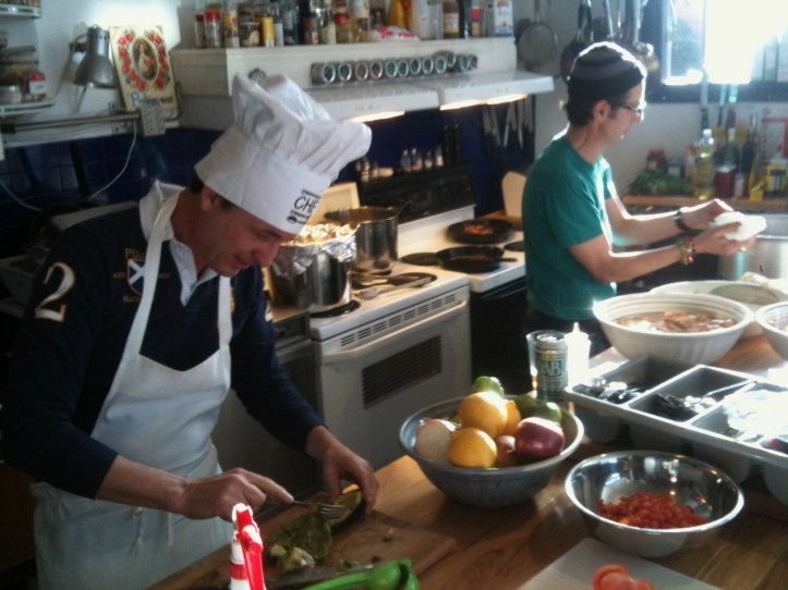 My dear friends Abel & Nicky cooking up a Cuban feast