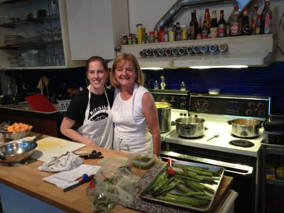 Quinn Cruise, with her mom. Quinn went on to represent Canada at the International Deaf Culinary Olympics.