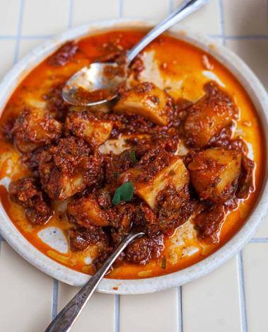 Karahi Aloo - Pakistani Curried Potatoes by Nasir Zuberi