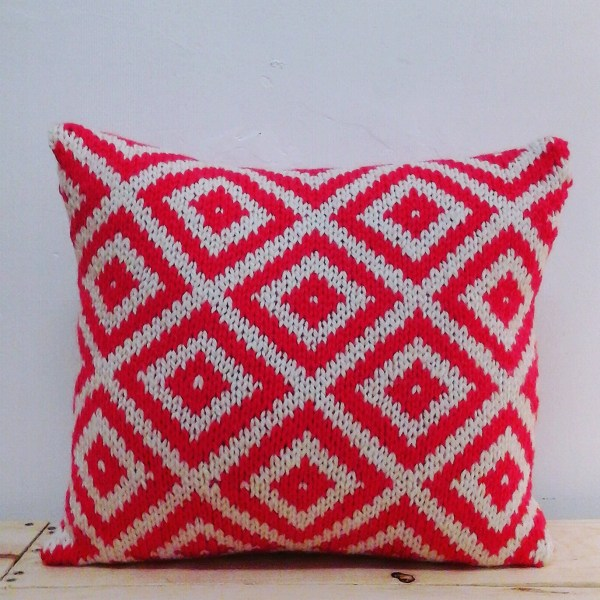 Knitted Cushion by Coulter & Coulter