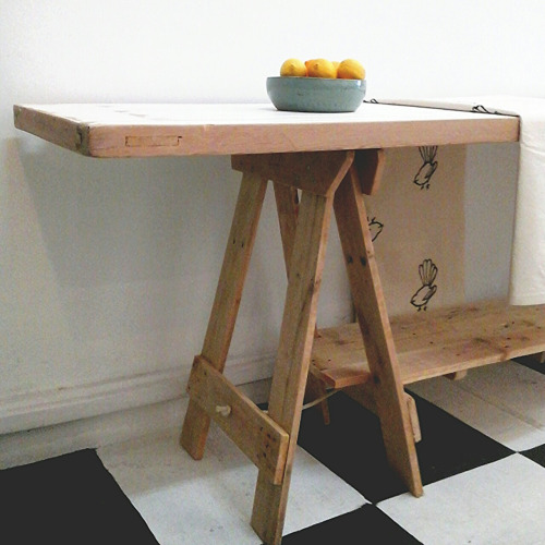 trestle table by reclectica