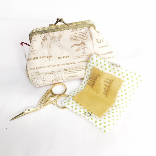 Purse with Sewing Kit - Annie B Handmade