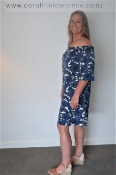 BLUE FLORAL OFF SHOULDER DRESS (2)