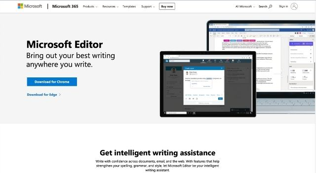 Microsoft Editor Spelling and Grammar Check