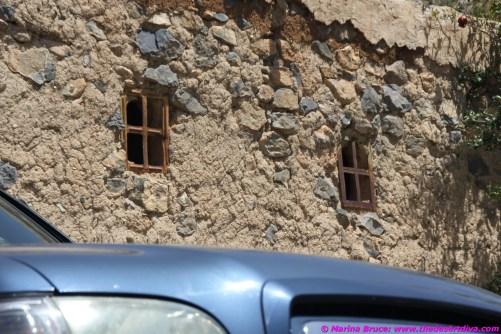 big truck, tiny windows