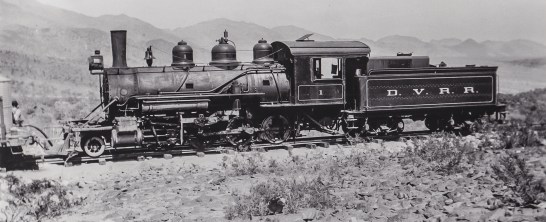 Death Valley R.R., Aug. 1914, New Narrow Gauge Locomotive - County of Inyo, Eastern California Museum