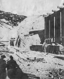 Lila C Mine - John Ryan at #2 shaft and bunker 1910, Courtesy National Park Service, Death Valley National Park