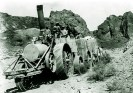 Old Dinah hauling borax ore from Old Borate to Daggett - Courtesy National Park Service, Death Valley National Park