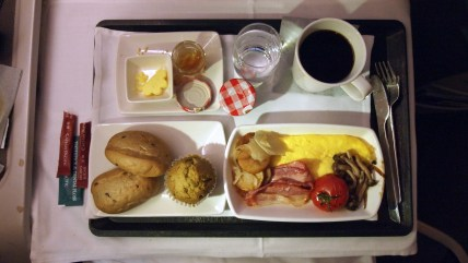 Cathay Pacific's main breakfast meal