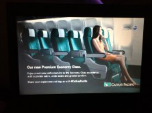 Oh look, an advert for Cathay's Very Good Premium Economy Seat!